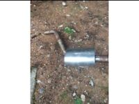 Stainless steel back box exhaust