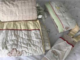 C cot bumper bedding set