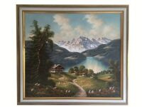 Superb Oil Painting titled 'Chiemsee Bayern, Germany' by Artur Franke