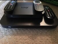 Sky q and sky q mini box with remotes £30