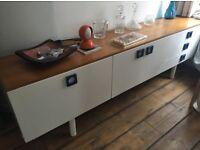 Vintage midcentury long teak top sideboard Gplan retro cabinet