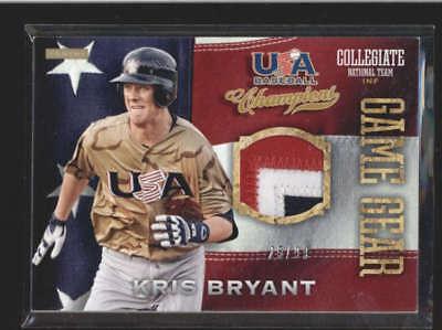 KRIS BRYANT 2013 PANINI TEAM USA BASEBALL CHAMPIONS GAME GEAR PATCH #/99 AC204