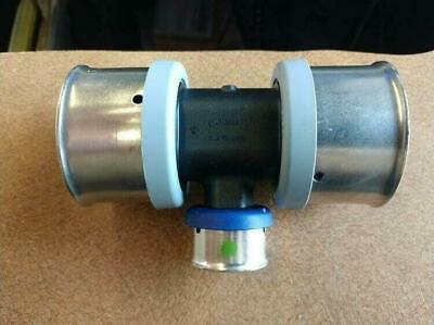 Viega Poly 49884 1-12x1-12x34 Pex Press Reducing Tee W Attached Sleeve