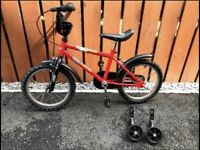 15 inch bike with stabilisers