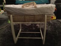 Mamas & papas stand and Moses basket