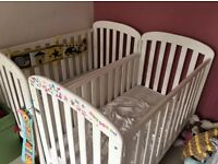 White cots with hand drop side