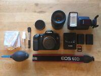 Canon 60D DLSR Camera - Big Bundle