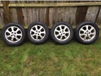 16 inch alloy wheels with new tyres - Vauxhall