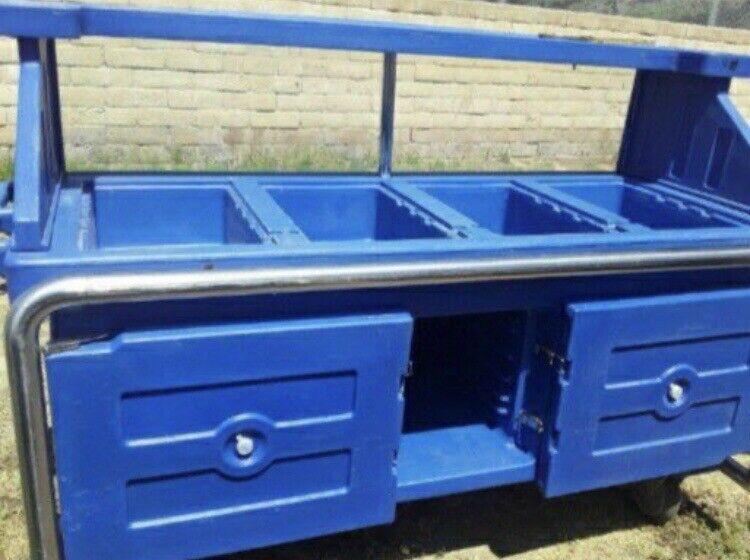 Cambro Vending Merchandising Cart Blue