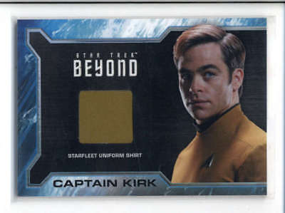 CHRIS PINE as CAPTAIN KIRK 2017 STAR TREK BEYOND STARFLEET UNIFORM RELIC AC794