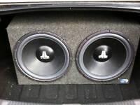 "2x 15"" JL Audio subwoofers"