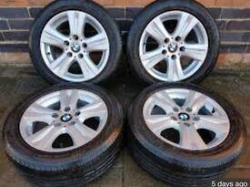 BMW GENUINE 16 INCH ALLOYS 1 2 3 SERIES 5x120 MINT TYRES ALLOY WHEELS WHEEL STAGGERED MSPORT M SPORT