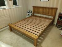 Rustic Solid Oak Lowfoot King Size Bed Frame, Excellent condition