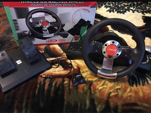Intec wireless racing wheel for PS3/PC