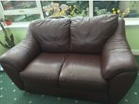 Brown leather sofa. good condition