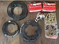 Bike chain/bash guard and bits