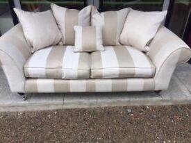 Cream linen chesterfield vintage style sofa