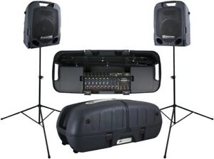 Peavey Escort 3000 complete with stand and 2 mics