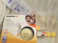 Medela swing 2 phase single breast pump + extras