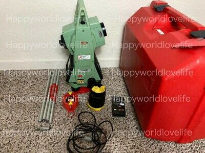 Leica Tcr307 Prismless Surveying Total Station W Case And New Battery.