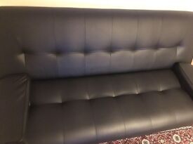 Black faux sofa bed for sale