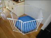 Linda Safe and Secure White Metal playpen - in a perfect condition