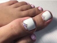 Pedicure at home, gel polish nails, nail extensions Cambridge