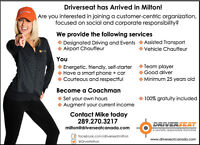 Milton - Customer service oriented Drivers wanted