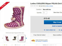 Wholesale Job Lot Coolers Mens & Ladies Slippers Furry Boots RRP £10 Each - GENUINE BARGAIN !
