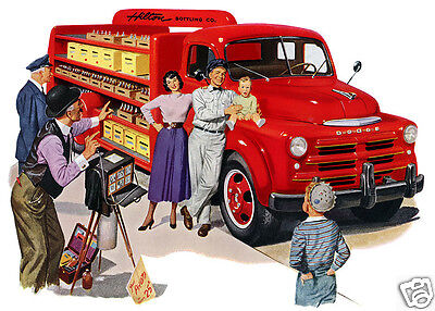 1949 Dodge Beverage Delivery Truck, RED, Refrigerator Magnet,40 MIL