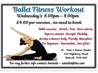 Adult Ballet fitness class