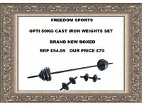 Opti Cast Bar Dumbbell Set - 50 Kg BRAND NEW BOXED RRP £94.99