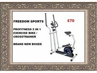 Pro Fitness 2-in-1 Cross Trainer brand new boxed