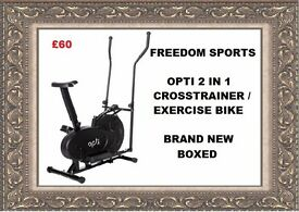 Opti 2 in 1 Cross Trainer and Exercise Bike brand new boxed REDUCED REDUCED !!!!