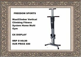 MaxiClimber Vertical Climbing Fitness System Home Multi Gym EX DISPLAY READY TO USE