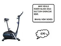 Roger Black Gold Magnetic Exercise Bike Brand New Boxed RRP £149.99