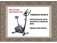 Roger Black Gold Magnetic Exercise Bike Brand New Boxed Rrp £179.99