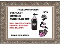 EVERLAST WOMENS 2FT PUNCHBAG SET BRAND NEW BOXED