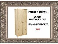 HOME Jakob 2 Door Wardrobe - Pine. Brand New Boxed REDUCED