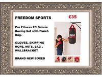 Pro Power 2ft Deluxe Boxing Set with Punch Bag.