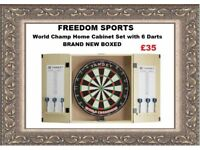 World Champ Home Cabinet Set with 6 Darts Brand New Boxed