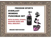 EVERLAST WOMENS PUNCHBAG SET BRAND NEW BOXED REDUCED TO CLEAR £35