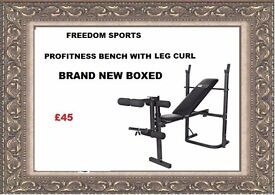 Profitness bench with leg curl Brand New Boxed FOLDING BENCH