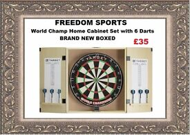 World Champ Home Cabinet Set with 6 Darts Brand New Boxed REDUCED REDUCED!!!!