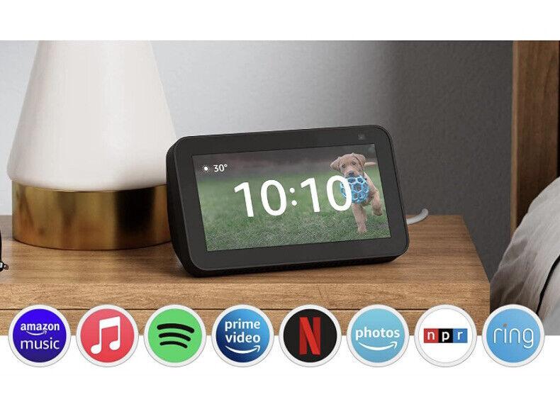 All-new Echo Show 5 (2nd Gen, 2021) Smart display Alexa 2MP Camera - Charcoal