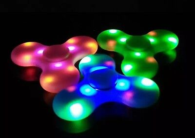 LED Party Light Rechargeable Bluetooth Wireless Speaker Fidget Hand Spinner USA