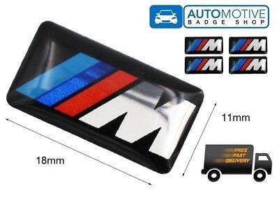 4 PCS M Sport Wheel Badge 3D Emblem Sticker Wheel Decal Fit for All BMW
