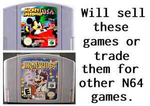 Would like to trade or sell these N64 games
