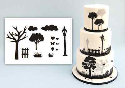 Patchwork Cutters Countryside Silhouette Set Sugarcraft Cake Decorating Tool