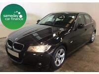 £228.52 PER MONTH BLACK 2011 BMW 320 2.0 EfficientDynamics 4 DOOR DIESEL MANUAL